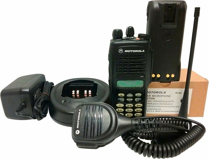 Motorola HT1250 UHF Two Way Radio MDC 1200 Quik-Call Full Keypad